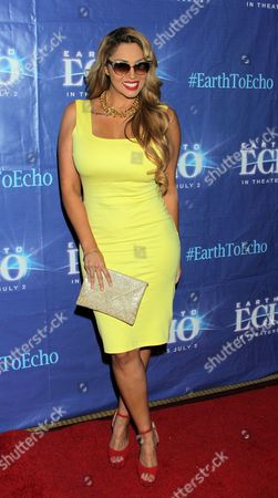 "Somaya Reece seen at Holly Robinson Peete's Screening of Relativity's ""Earth To Echo"" Benefiting the HollyRod Foundation at Pacific Theatres at the Grove, in Los Angeles, California"