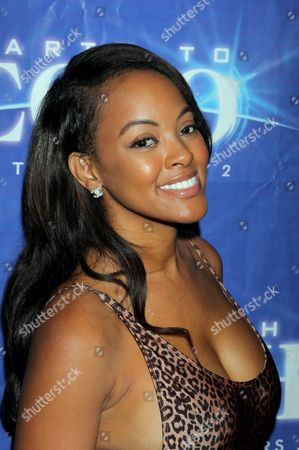 """Malaysia Pargo seen at Holly Robinson Peete's Screening of Relativity's """"Earth To Echo"""" Benefiting the HollyRod Foundation at Pacific Theatres at the Grove, in Los Angeles, California"""