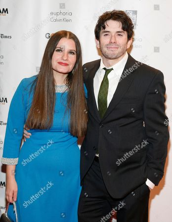Filmmakers Melanie Shatzky, left, and Brian M. Cassidy, right, attend the 22nd Annual Gotham Independent Film Awards, at Cipriani Wall Street on in New York