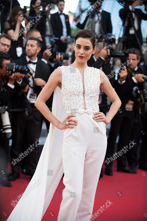 Stock Photo of Cansu Dere poses for photographers upon arrival for the screening of the film Inside Out at the 68th international film festival, Cannes, southern France