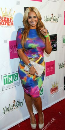 "Somaya Reece attends Jackie Christie's ""Sexual Relations: A His & Hers Guide to Greater Intimacy"" Book Launch as part of Basketball Wives LA season 3 at Sushi Kingz on in Hollywood, California"