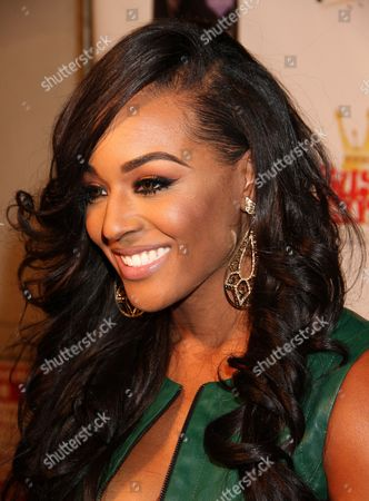 """Basketball Wives LA cast member Brandi Maxiell and attends Jackie Christie's """"Sexual Relations: A His & Hers Guide to Greater Intimacy"""" Book Launch as part of Basketball Wives LA season 3 at Sushi Kingz on in Hollywood, California"""