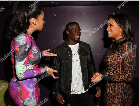 L-R) Alani Vazquez Anthony, Kevin Hart and Christina Milian at Kevin Hart's 1st Annual New Year's Eve 3 Day Block Party Celebrity Kick Off on Saturday, December, 29, 2012, at the Conga Room in Los Angeles, California