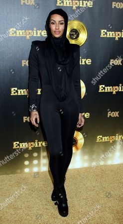 """Actor and model Azmarie Livingston seen at LA Premiere Of """"Empire"""" at Arclight Cinema Dome, in Hollywood, California"""