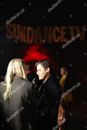 "Kiowa Gordon arrives at LA Premiere Screening of ""The Red Road"" on in Los Angeles, Calif"