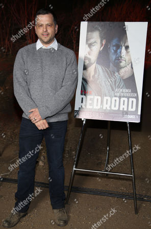 "Aaron Guzikowski arrives at LA Premiere Screening of ""The Red Road"" on in Los Angeles, Calif"