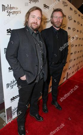 """Tom Berninger and Matt Berninger at LA Special Screening Of """"Mistaken For Strangers"""" - Red Carpet, on in Los Angeles"""