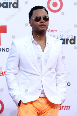 Singer Toby Love arrives at the Latin Billboard Awards in Coral Gables, Fla
