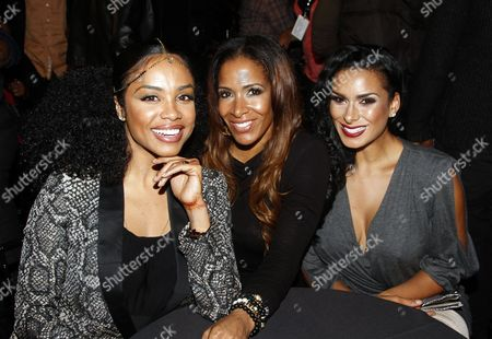 Stock Picture of Reality stars (L-R) Claudette Ortz, Sheree Whitfield and Laura Govan seen at Lexus Presents: Verses and Flow Season 3 with Jill Scott tapped at The Belasco Theatre on in Los Angeles, California. (Photo by Arnold Turner/Invision/AP