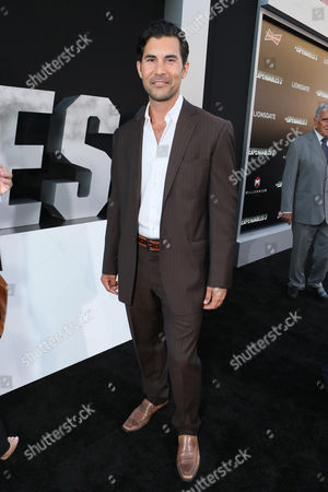 "David DeSantos arrives at the Lionsgate Los Angeles premiere of ""The Expendables 3"" at TCL Chinese Theatre, in Hollywood, Calif"