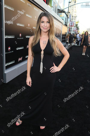 """Stock Picture of Nicole Andrews arrives at the Lionsgate Los Angeles premiere of """"The Expendables 3"""" at TCL Chinese Theatre, in Hollywood, Calif"""
