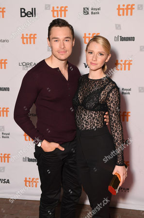 """Sam Underwood and Valorie Curry seen at Lionsgate's """"Blair Witch"""" Midnight Madness Premiere at the 2016 Toronto International Film Festival, in Toronto"""