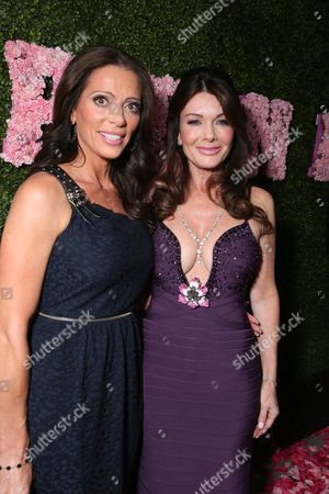 Carlton Gebbia and Lisa Vanderpump at the launch of PUMP Lounge in West Hollywood on in West Hollywood, CA