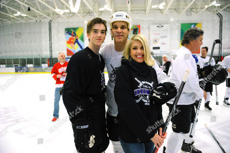 From left, Jessarae, Luc Robitaille and Stacia Robitaille attend Luc Robitaille's Celebrity Shoot Out benefitting Echoes of Hope, on in Park City, Utah