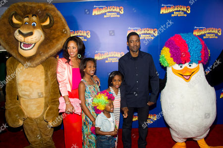 """Stock Photo of Chris Rock and Malaak Compton-Rock attend the premiere of """"Madagascar 3: Europe's Most Wanted"""" on in New York"""