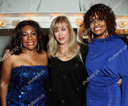 R&B legend Mary Wilson, CUN founder Daphna Ziman and actress Beverly Todd backstage at Mary Wilson Original Supreme Children Uniting Nations Benefit Concert on Sunday, December, 16, 2012, at Saban Theatre in Beverly Hills, California