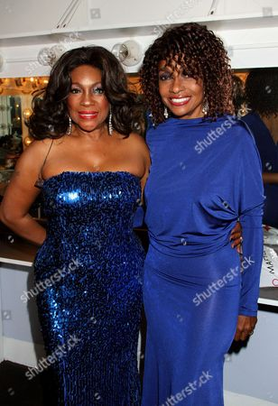 R&B legend Mary Wilson and actress Beverly Todd backstage at Mary Wilson Original Supreme Children Uniting Nations Benefit Concert on Sunday, December, 16, 2012, at Saban Theatre in Beverly Hills, California