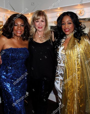 R&B legend Mary Wilson, CUN founder Daphna Ziman and R&B legend Miki Howard backstage at Mary Wilson Original Supreme Children Uniting Nations Benefit Concert on Sunday, December, 16, 2012, at Saban Theatre in Beverly Hills, California
