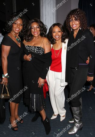 Actress Judy Pace R&B legends Mary Wilson, Florence LaRue and actress Beverly Todd backstage at Mary Wilson Original Supreme Children Uniting Nations Benefit Concert on Sunday, December, 16, 2012, at Saban Theatre in Beverly Hills, California