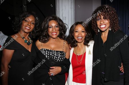 Stock Picture of Actress Judy Pace R&B legends Mary Wilson, Florence LaRue and actress Beverly Todd backstage at Mary Wilson Original Supreme Children Uniting Nations Benefit Concert on Sunday, December, 16, 2012, at Saban Theatre in Beverly Hills, California