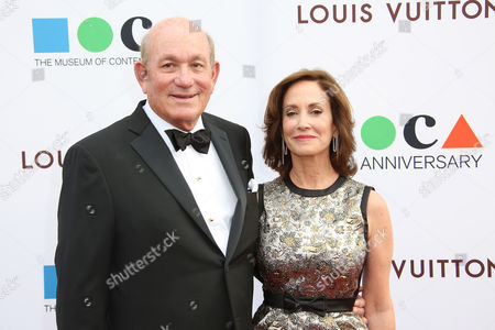 Bruce Karatz and Lilly Tartikoff Karatz arrive at MOCA's 35th Anniversary Gala presented by Louis Vuitton at The Geffen Contemporary at MOCA on in Los Angeles