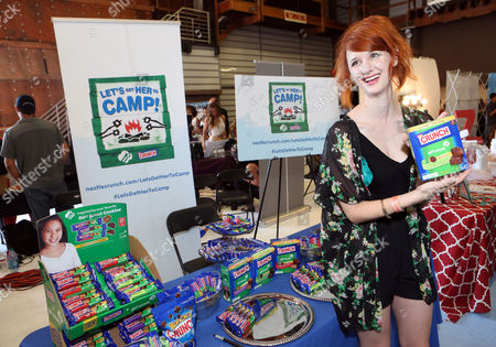 Actor Laura Spencer supports the #LetsGetHerToCamp campaign with Nestle Crunch Girl Scout Candy Bars at an Emmy Awards gift suite on in Los Angeles. To help send girls to Girl Scout camp visit NestleCrunch.com/LetsGetHerToCamp by August 31