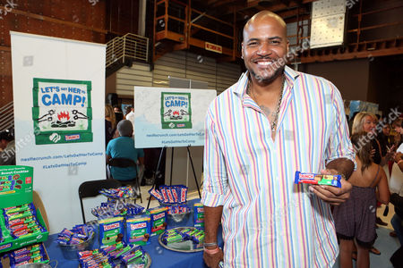 Actor Vincent M. Ward supports the #LetsGetHerToCamp campaign with Nestle Crunch Girl Scout Candy Bars at an Emmy Awards gift suite on in Los Angeles. To help send girls to Girl Scout camp visit NestleCrunch.com/LetsGetHerToCamp by August 31