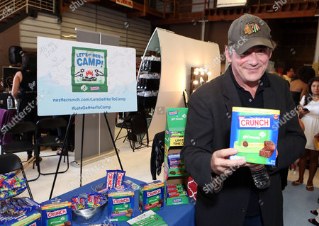 Actor Tom Irwin supports the #LetsGetHerToCamp campaign with Nestle Crunch Girl Scout Candy Bars at an Emmy Awards gift suite on in Los Angeles. To help send girls to Girl Scout camp visit NestleCrunch.com/LetsGetHerToCamp by August 31