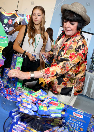 Actress Jo Anne Worley supports the #LetsGetHerToCamp campaign with Nestle Crunch Girl Scout Candy Bars at an Emmy Awards gift suite on in Los Angeles. To help send girls to Girl Scout camp visit NestleCrunch.com/LetsGetHerToCamp by August 31