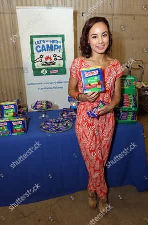 Stock Picture of Actress Savannah Jayde supports the #LetsGetHerToCamp campaign with Nestl? Crunch Girl Scout Candy Bars at a Teen Choice Awards gift suite on in Los Angeles. To help send girls to Girl Scout camp visit NestleCrunch.com/LetsGetHerToCamp by August 31