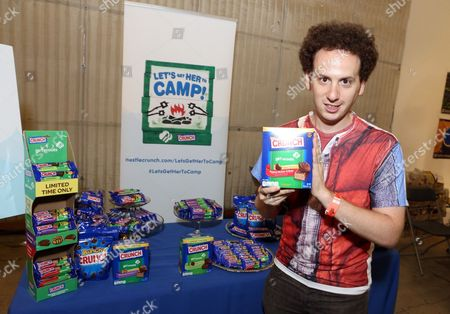 Actor Josh Sussman supports the #LetsGetHerToCamp campaign with Nestle Crunch Girl Scout Candy Bars at a Teen Choice Awards gift suite on in Los Angeles. To help send girls to Girl Scout camp visit NestleCrunch.com/LetsGetHerToCamp by August 31