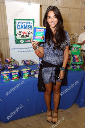 Stock Image of Actress Ana Villafa?e supports the #LetsGetHerToCamp campaign with Nestl? Crunch Girl Scout Candy Bars at a Teen Choice Awards gift suite on in Los Angeles. To help send girls to Girl Scout camp visit NestleCrunch.com/LetsGetHerToCamp by August 31