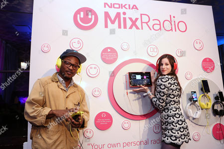 Theo Spielberg, left, and Sasha Spielberg of the band Wardell are seen at the Nokia MixRadio Launch Event on in Los Angeles
