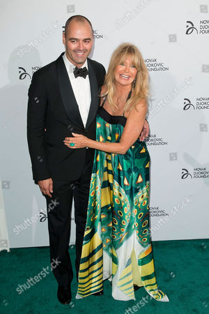 Milutin Gatsby and Goldie Hawn attends Novak Djokovic Foundation 2nd Annual Gala, on Tuesday September, 10, 2013 in New York City