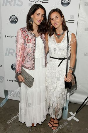 """Danielle Snyder, left, and Jodie Snyder, right, attend the premiere of """"Iris"""" at the Paris Theatre, in New York"""