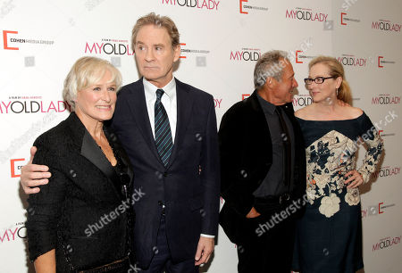 """From left, Glenn Close, Kevin Kline, Israel Horovitz and Meryl Streep attend the New York premiere of """"My Old Lady"""" on in New York"""
