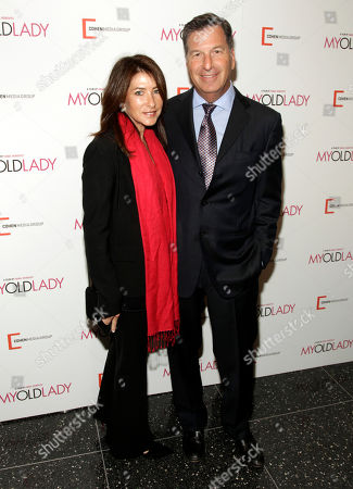 """Lisa Foster, left, and Gary Foster, right, attend the New York premiere of """"My Old Lady"""" on in New York"""
