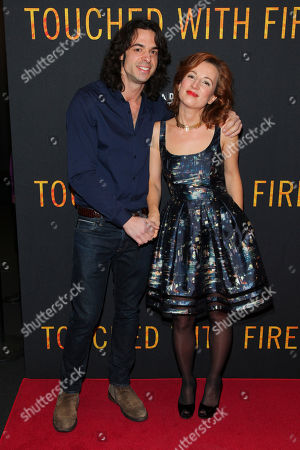 "Stock Picture of Paul Dalio, left, and Kristina Nikolova, right, attend the premiere of ""Touched With Fire"" at the Walter Reade Theatre, in New York"