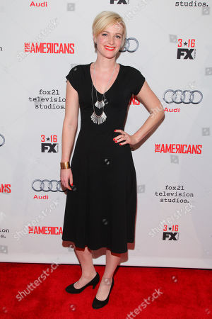 "Suzy Jane Hunt attends FX's ""The Americans"" Season 4 premiere at the NYU Skirball Center for the Performing Arts, in New York"