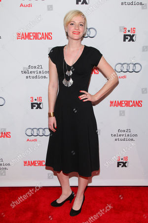 """Suzy Jane Hunt attends FX's """"The Americans"""" Season 4 premiere at the NYU Skirball Center for the Performing Arts, in New York"""