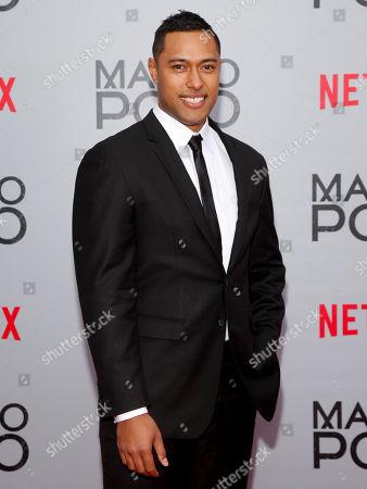 "Uli Latukefu attends the season premiere of the new Netflix series ""Marco Polo"" at AMC Lincoln Square, in New York"
