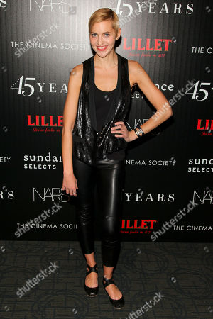 """Genevieve Bahrenburg attends a special screening of """"45 Years"""" hosted by The Cinema Society and Sundance Selects at the Landmark Sunshine Cinema, in New York"""