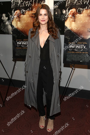 """Rachael Emrich attends a special screening of """"The Man Who Knew Infinity"""" at Bow Tie Chelsea Cinema, in New York"""