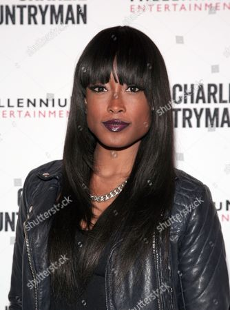 "Fashion model Keenyah Hill attends a screening of ""Charlie Countryman"" on in New York"