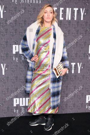 Alana Hadid attends the FENTY PUMA by Rihanna fashion show at 23 Wall Street, in New York