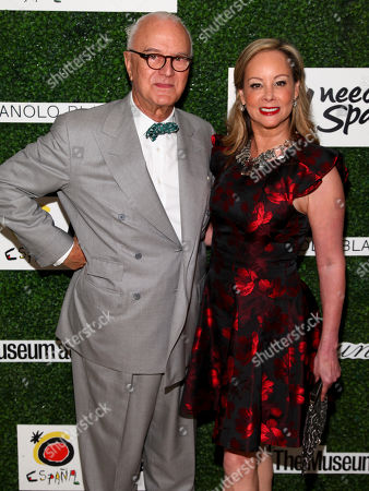 Manolo Blahnik, left, and Yaz Hernandez, right, attend the New York Fashion Week Spring/Summer 2016 Couture Council Awards Luncheon at the David Koch Theater, in New York