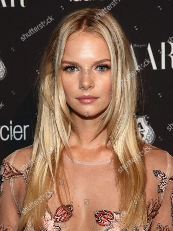 Fashion model Marloes Horst attends Harper's Bazaar Icons celebration during NYFW Spring/Summer 2017 at the Plaza Hotel, in New York