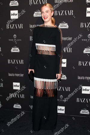 Fashion model Polina Proshkina attends Harper's Bazaar Icons celebration during NYFW Spring/Summer 2017 at the Plaza Hotel, in New York