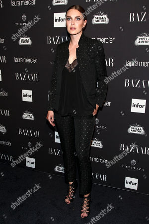 Phoebe Dahl attends Harper's Bazaar Icons celebration during NYFW Spring/Summer 2017 at the Plaza Hotel, in New York