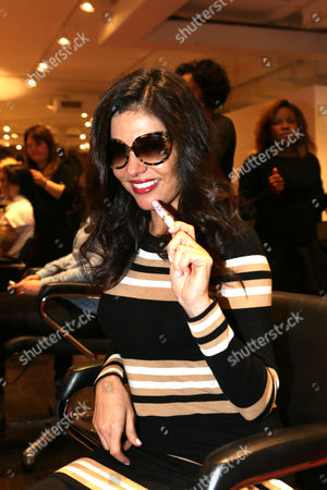 Adriana de Moura at The Panasonic Beauty Bar at Salon SCK during New York Fashion Week on in New York, NY